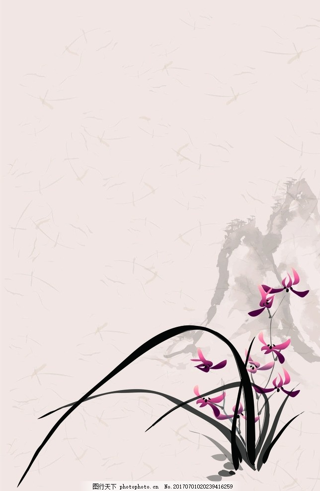 简约中国风背景 水墨古风背景 中国画 古风 水墨画 山水画 山水背景