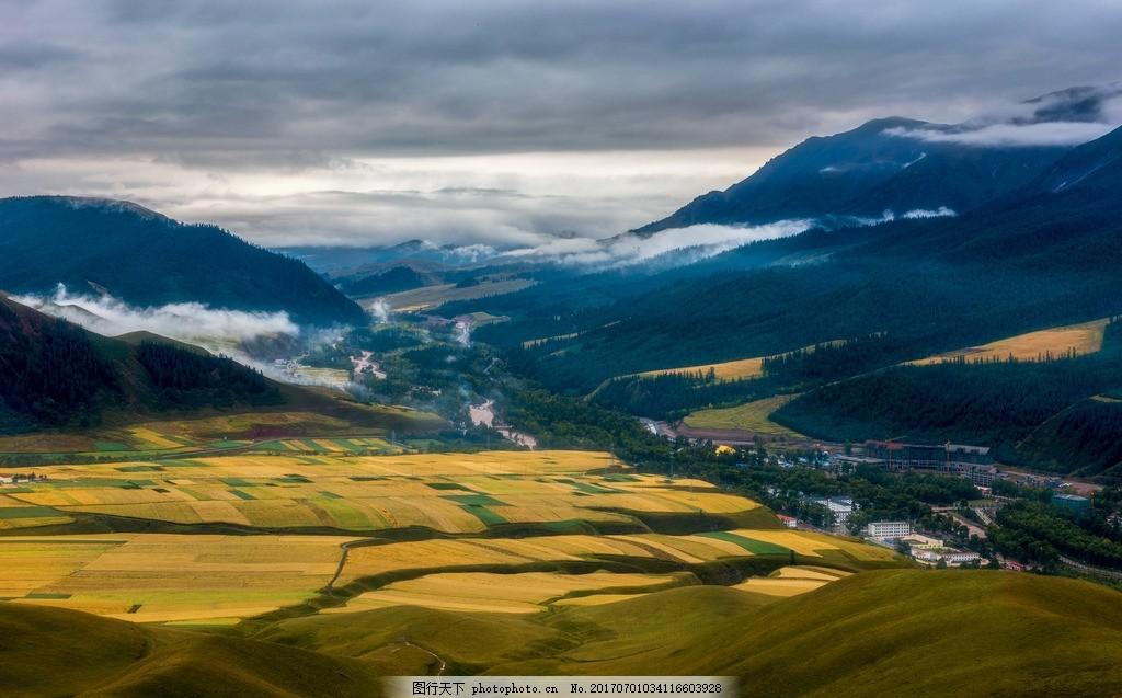 高山 美景 大山 稻田 天空 农作物 多娇江山 摄影 自然景观 自然风景