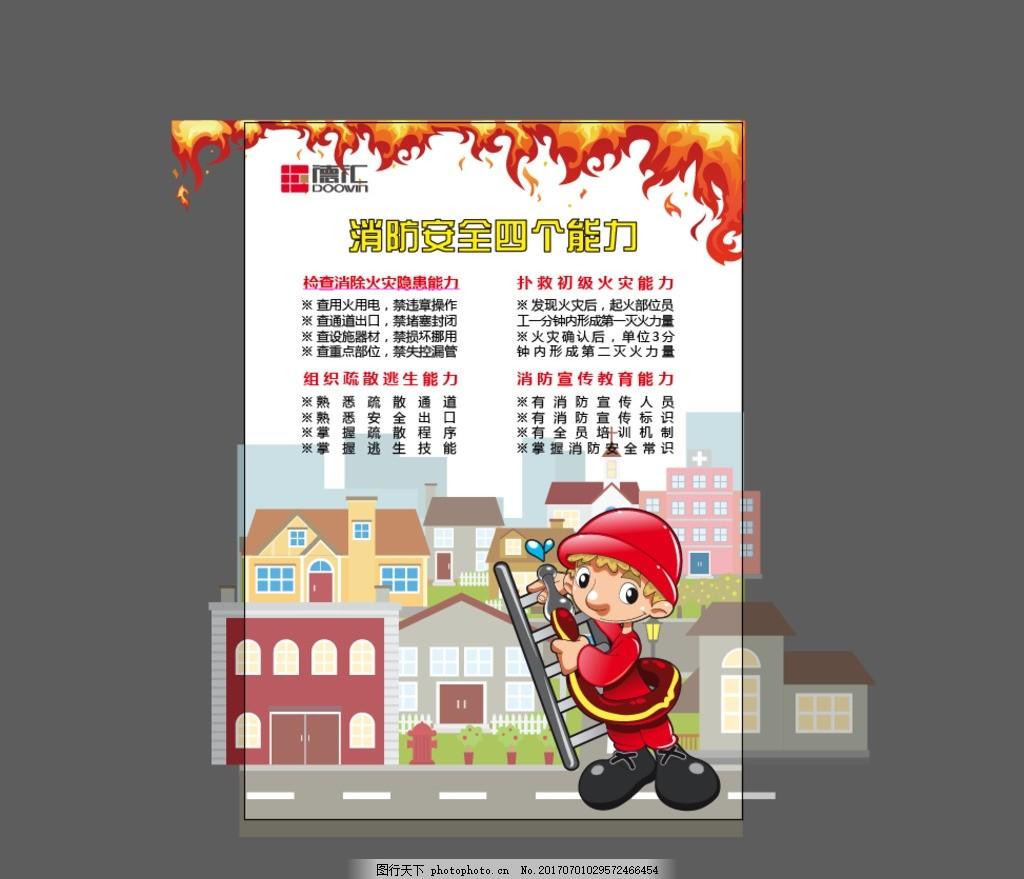 商场消防海报