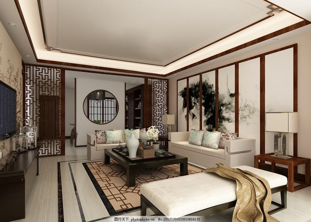新中式客厅      新中式 艺术客厅 沙发 客厅展示 中式 设计 其他