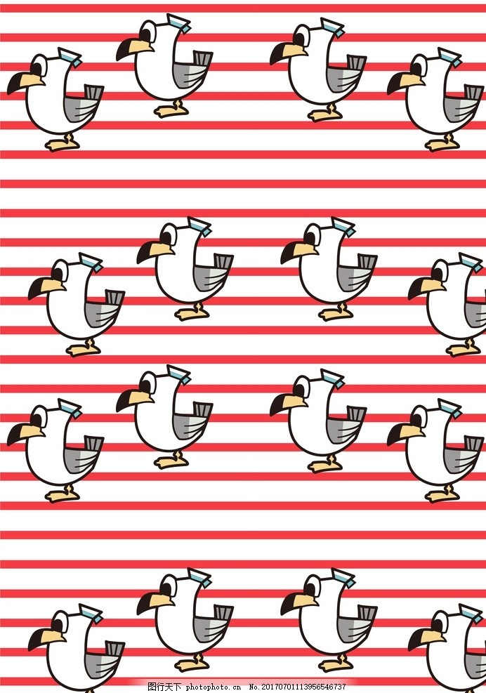 印花素材 服装设计 ai 卡通 横条 小动物 免费共享专区 设计 底纹边框