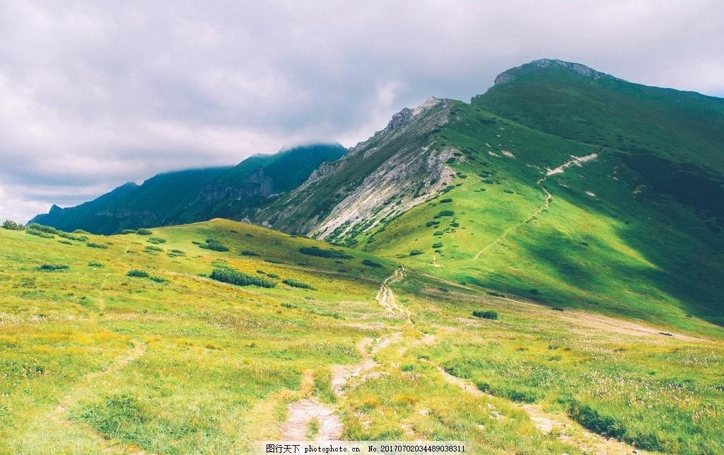 山林 山地 草地 绿色 林木 高山 摄影 自然景观 山水风景 72dpi jpg