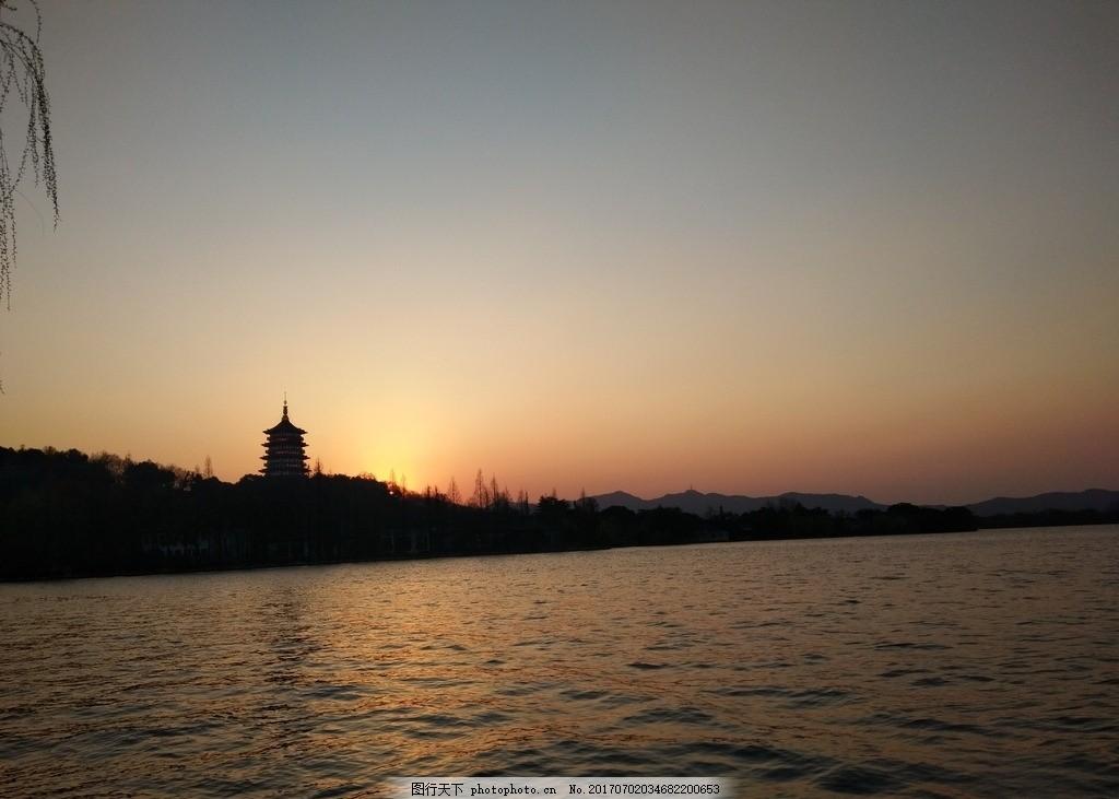 设计图库 自然景观 风景名胜  杭州 西湖 西湖美景 天空 船 唯美景色
