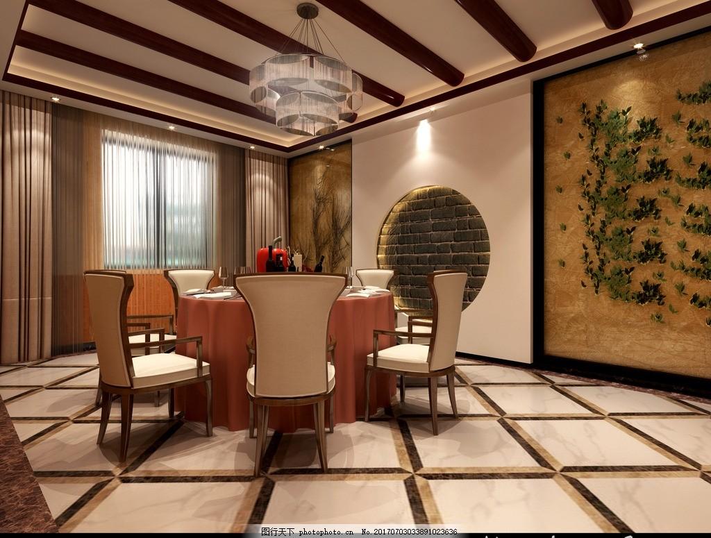 餐厅包间效果图 中式餐厅 吊顶木头 餐厅效果图 餐厅包间 小包间 设计