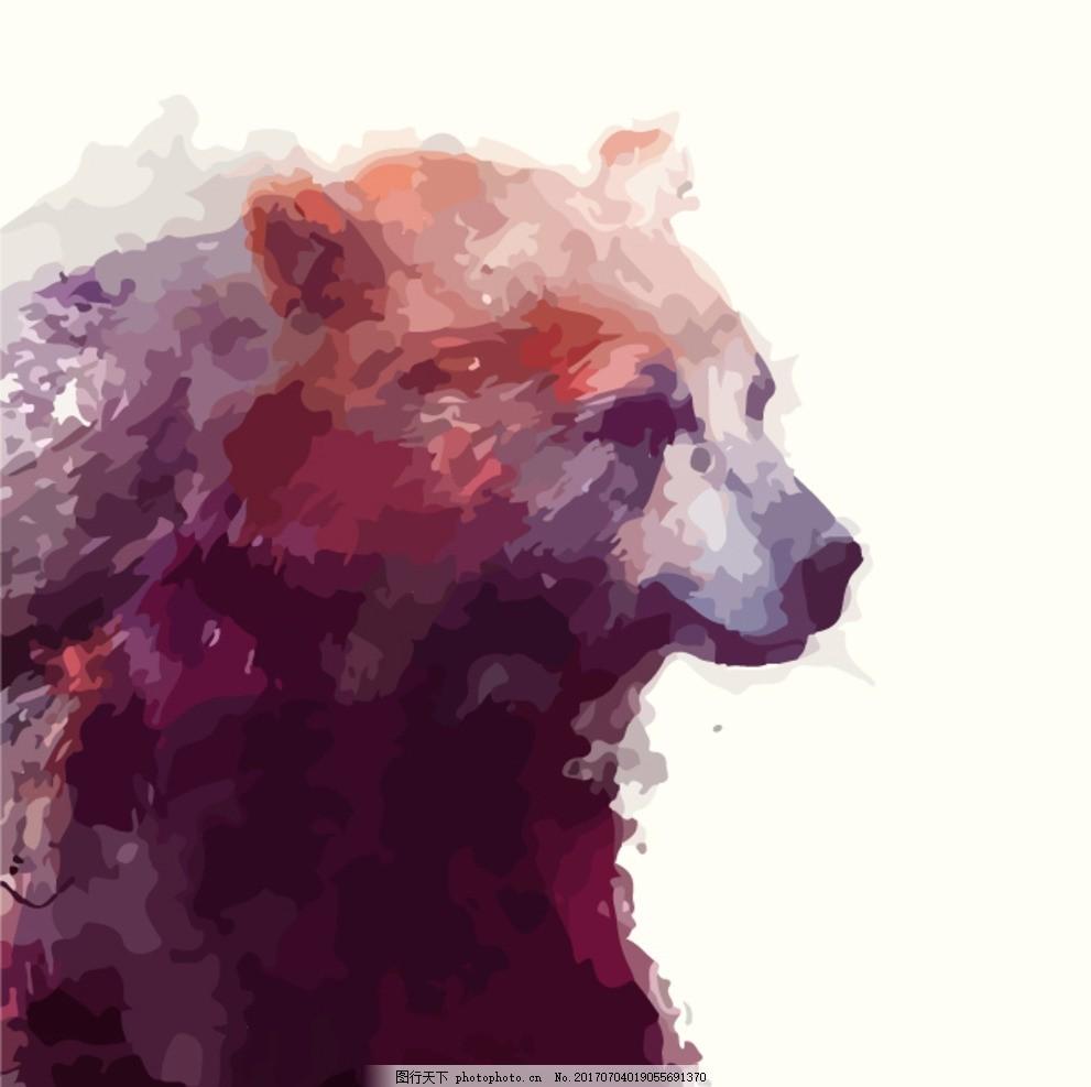 服装底纹 水彩花纹 服装插画 装饰绘画 北欧绘画 北欧画芯 动物手绘