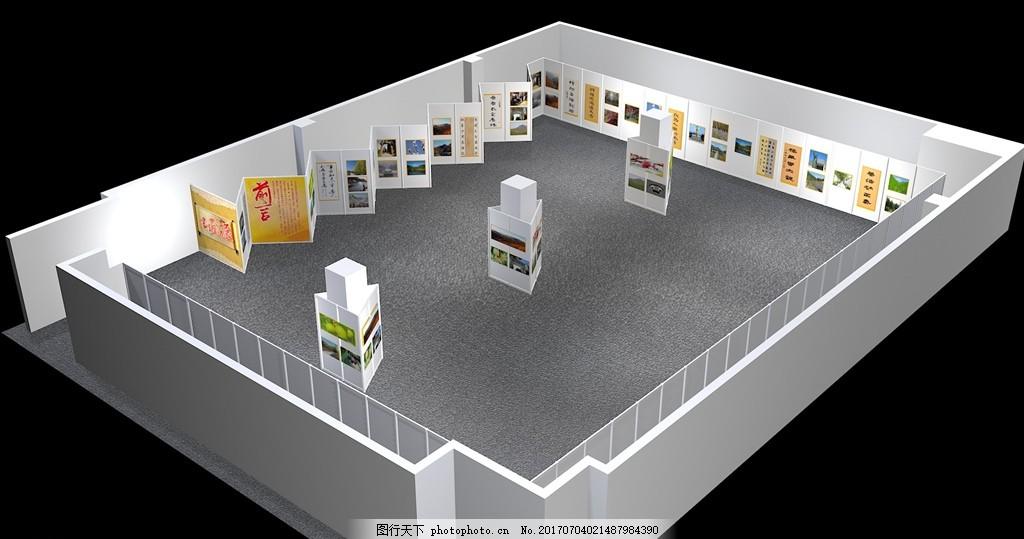 画展 特装 展位 木结构 型材 展示模型