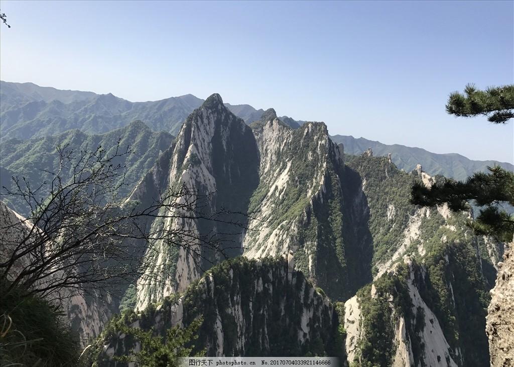 山 青山 蓝天 绿树 华山 西安 风景区 摄影 旅游摄影 国内旅游 72dpi