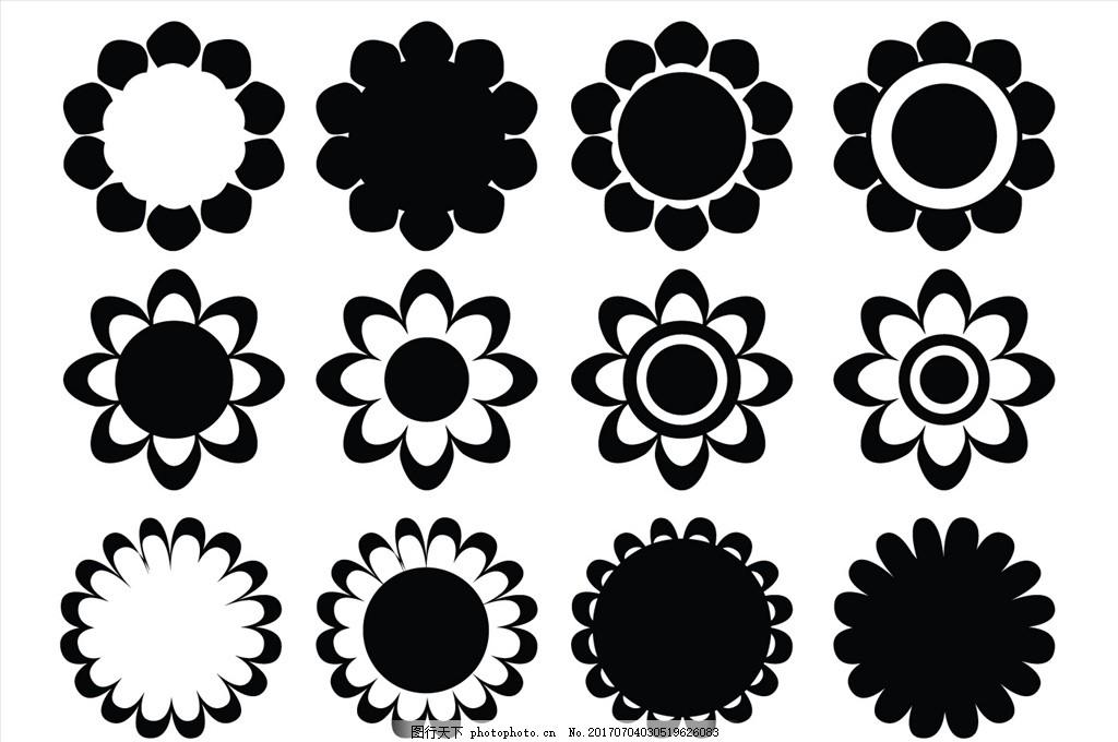 简笔画 花边 无缝图案背景 花卉 植物 紫丁香 丁香花 无缝花纹 时尚