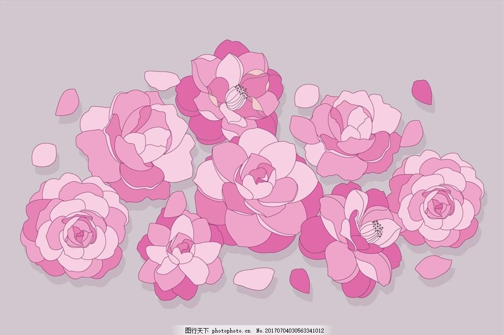 花瓣 花边 无缝图案背景 花卉 植物 紫丁香 丁香花 无缝花纹 时尚底纹
