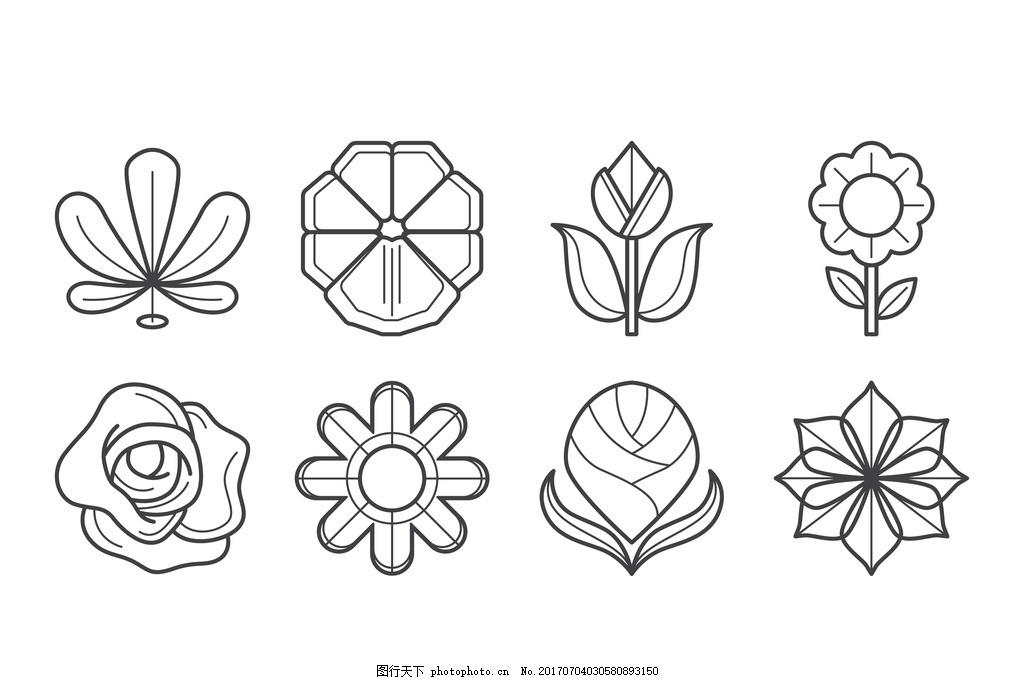简单可爱花朵简笔画