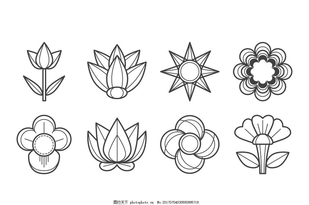 铅笔画 花边 无缝图案背景 花卉 植物 紫丁香 丁香花 无缝花纹 时尚