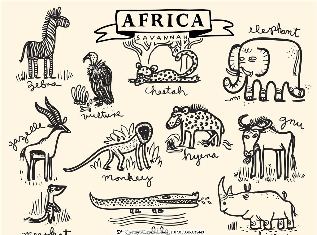 卡通动物园矢量图下载 服装设计 男装设计 女装设计 箱包印花 男装