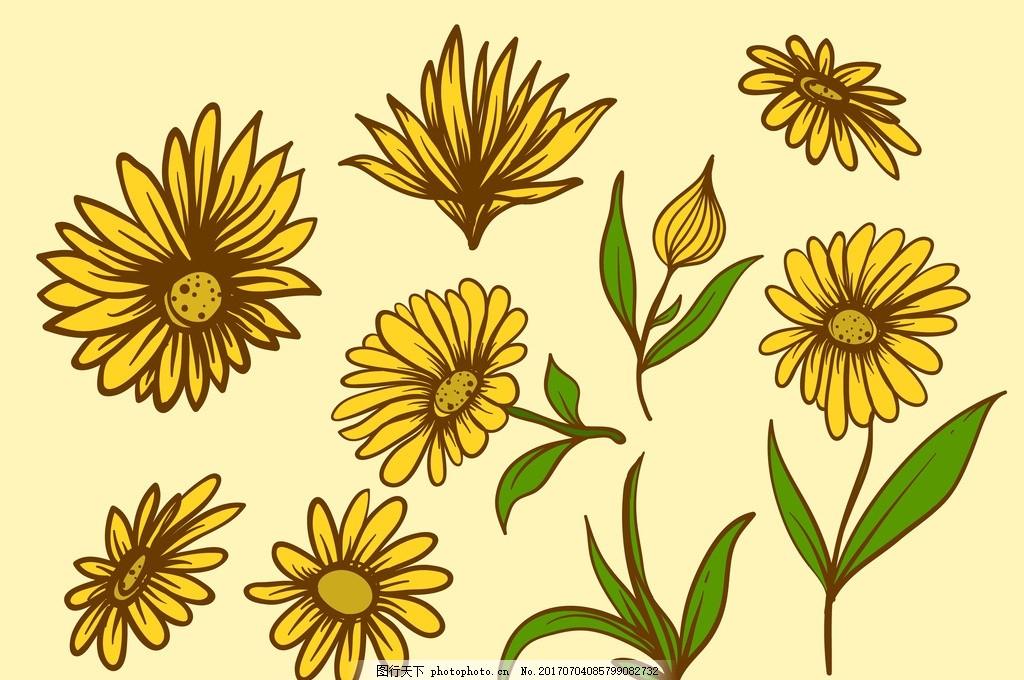 菊花 花边 无缝图案背景 花卉 植物 紫丁香 丁香花 无缝花纹