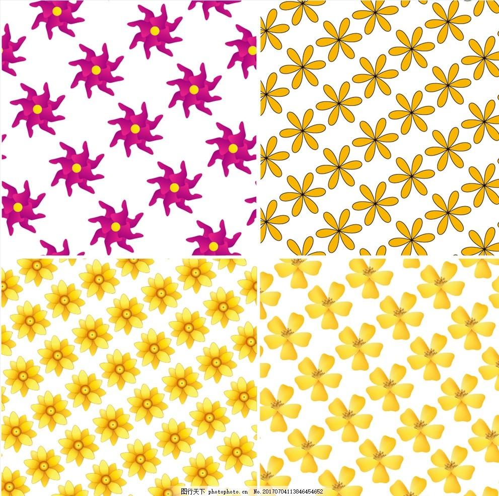 时尚花瓣矢量连续墙纸