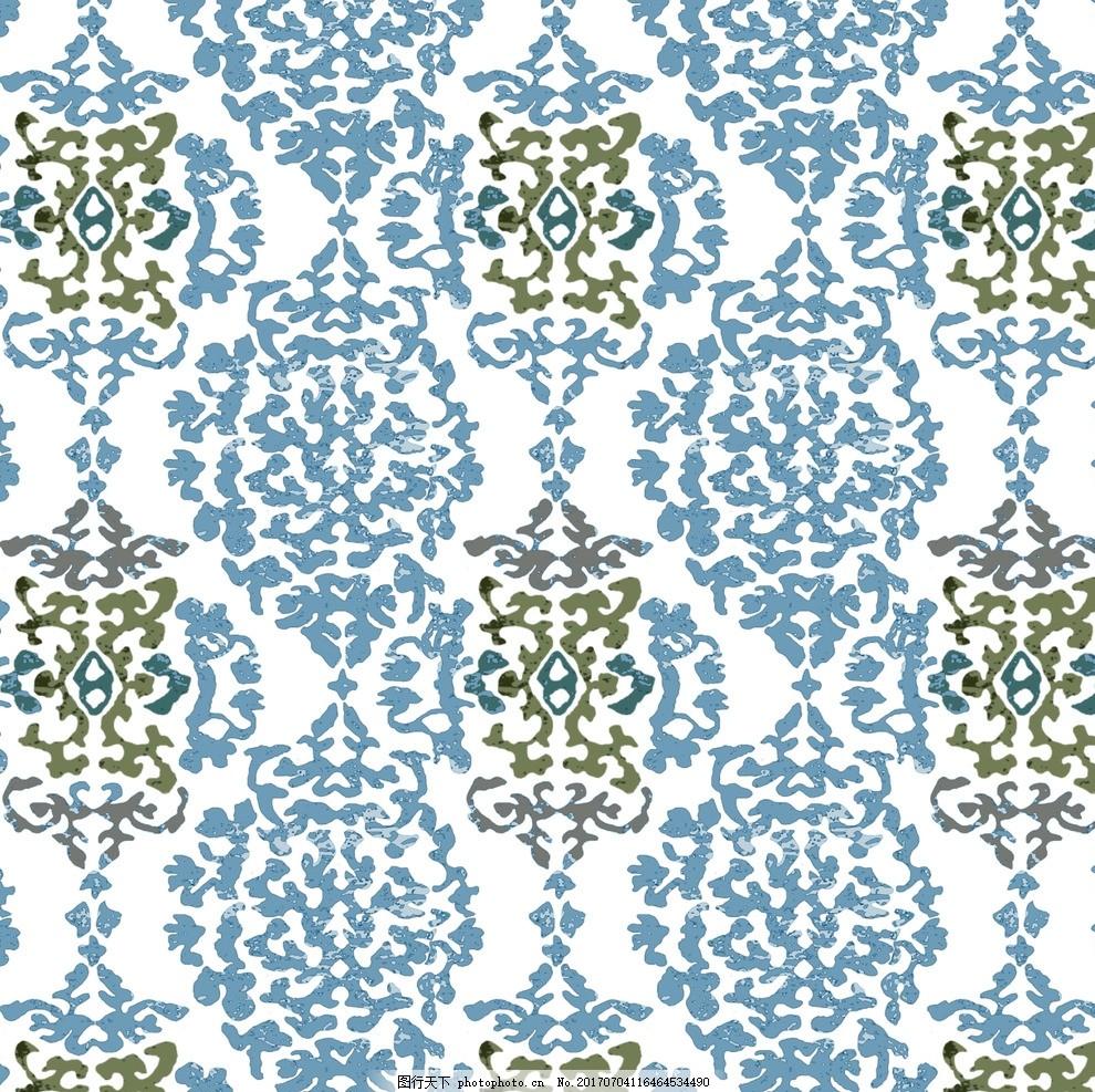 大马士革 花纹 单独 纹样 古典 设计 广告设计 服装设计 200dpi jpg