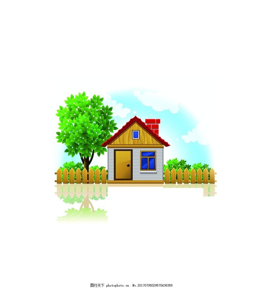 设计素材 卡通背景 卡通房屋 房屋 可爱房子 高楼 插画 房屋插画 窗户