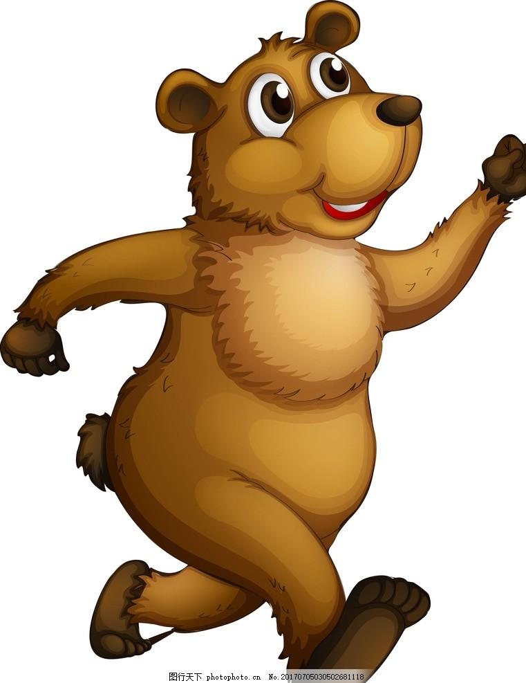 卡通棕熊 卡通动物 动漫卡通 可爱 贺卡 动物插画 插画 儿童绘本 儿童