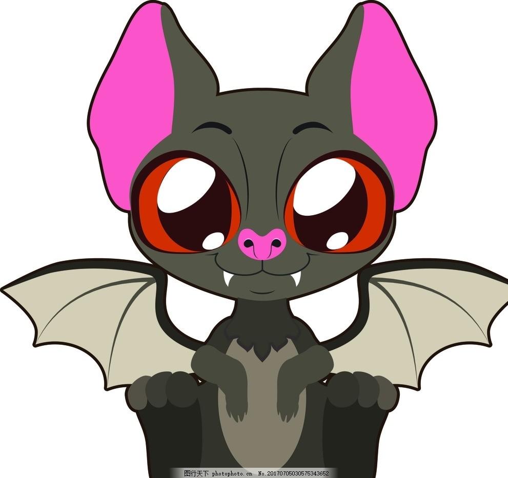 卡通蝙蝠 卡通动物 动漫卡通 可爱 贺卡 动物插画 插画 儿童绘本 儿童