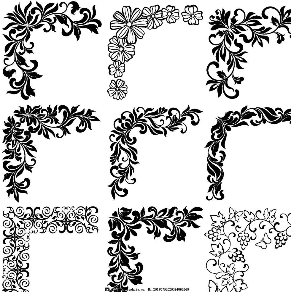 欧式怀旧复古 欧式怀旧花纹 欧式复古花纹 欧式边框 欧式花纹底纹