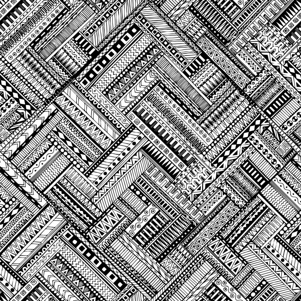 立体几何图案底纹 黑白 背景 无缝 格子 创意