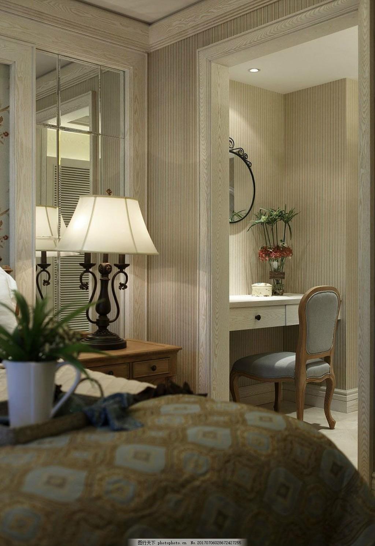 现代时尚卧室装修效果图 室内装修效果图图片 室内设计 设计素材图片