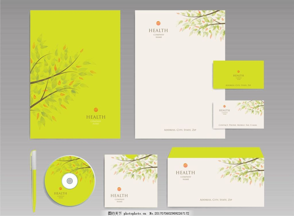 绿色环保清新VI 封面设计 包装设计