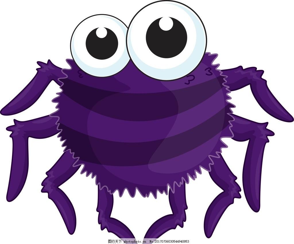卡通蜘蛛 卡通动物 动漫卡通 可爱 贺卡 动物插画 儿童绘本 儿童画画