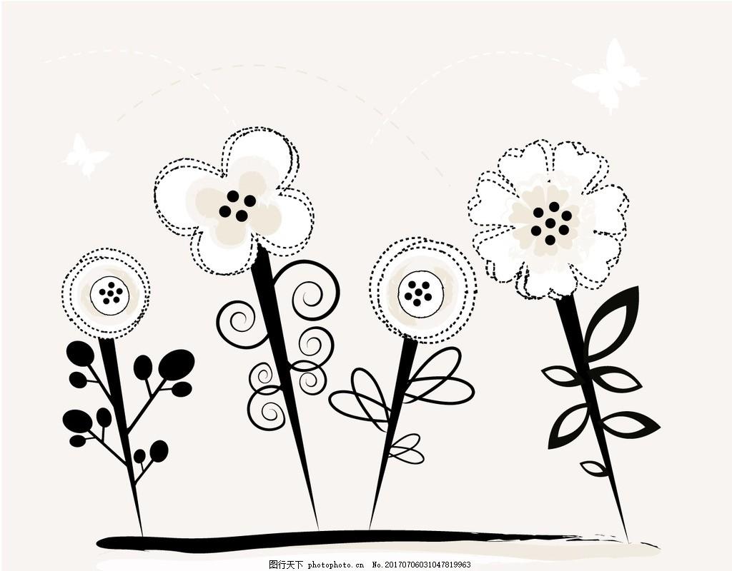 可爱的花卉背景与熊 婴儿 花卉 儿童 蝴蝶 树叶 动物 苹果 可爱 插图