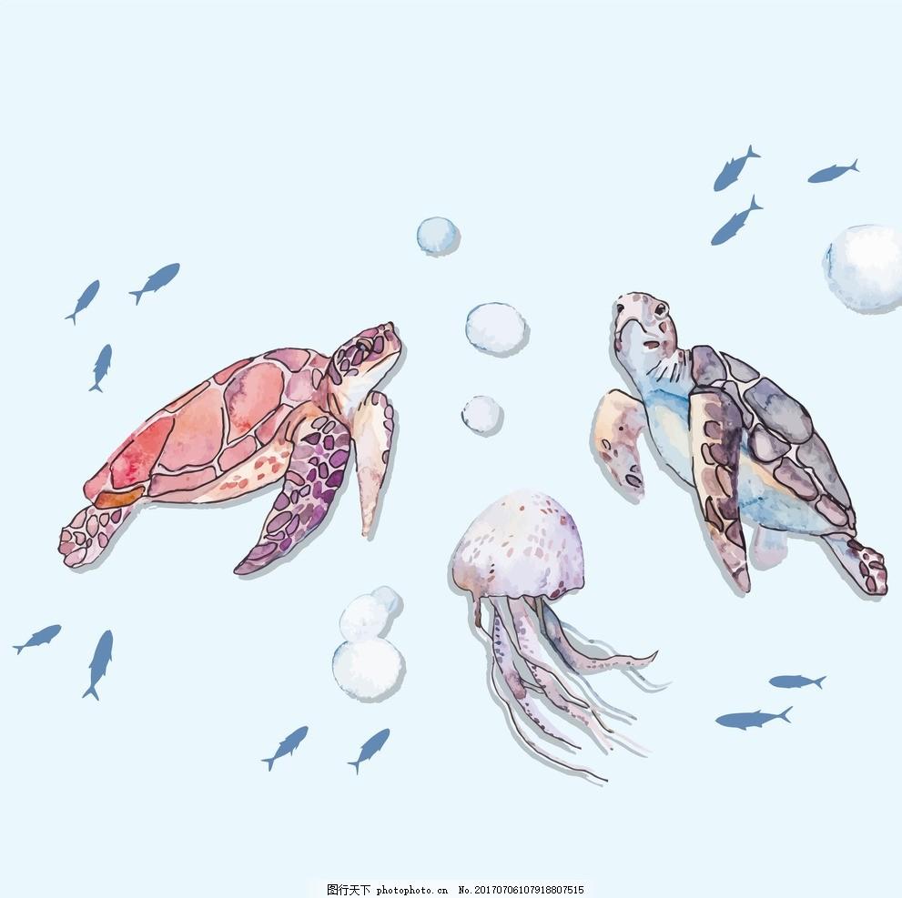 海龟儿童画ppt