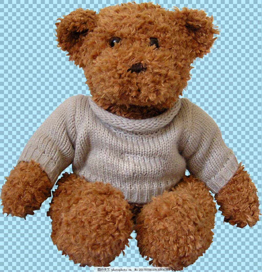 可爱玩具布娃娃熊图片免抠png透明素材