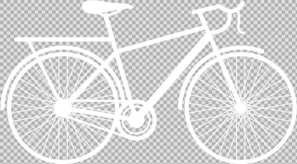 白色自行车剪影免抠png透明图层素材