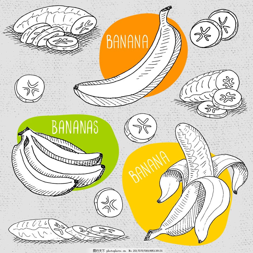 速写手绘香蕉插画