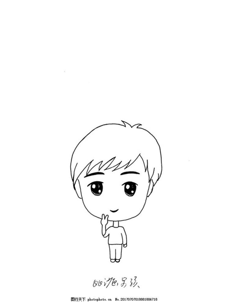 动漫 简笔画 卡通 漫画 手绘 头像 线稿 735_987 竖版 竖屏
