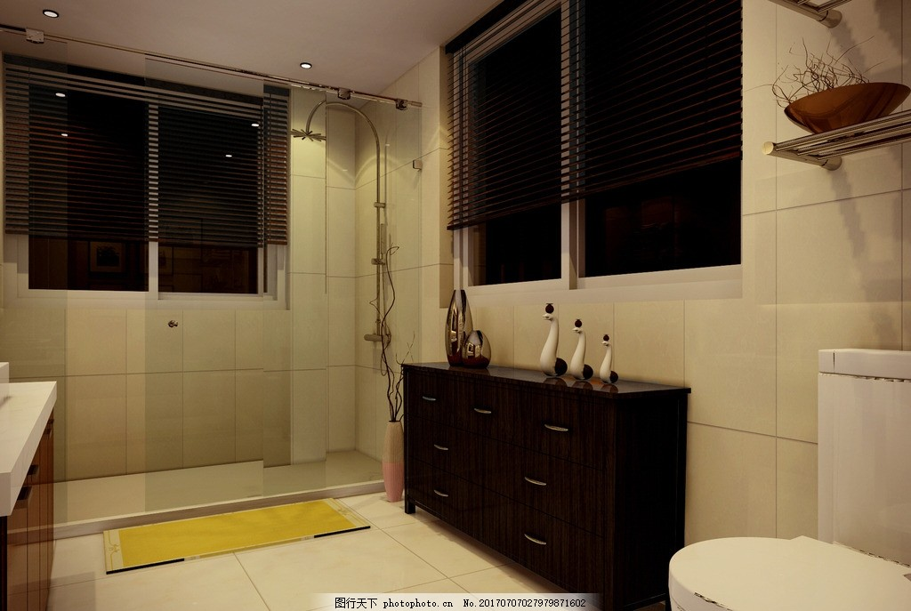 卫生间效果图 室内设计 装饰 装修 家装        别墅 豪宅