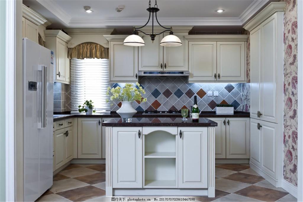 现代简约厨房装修效果图 室内装修效果图图片 时尚 室内设计 设计素材