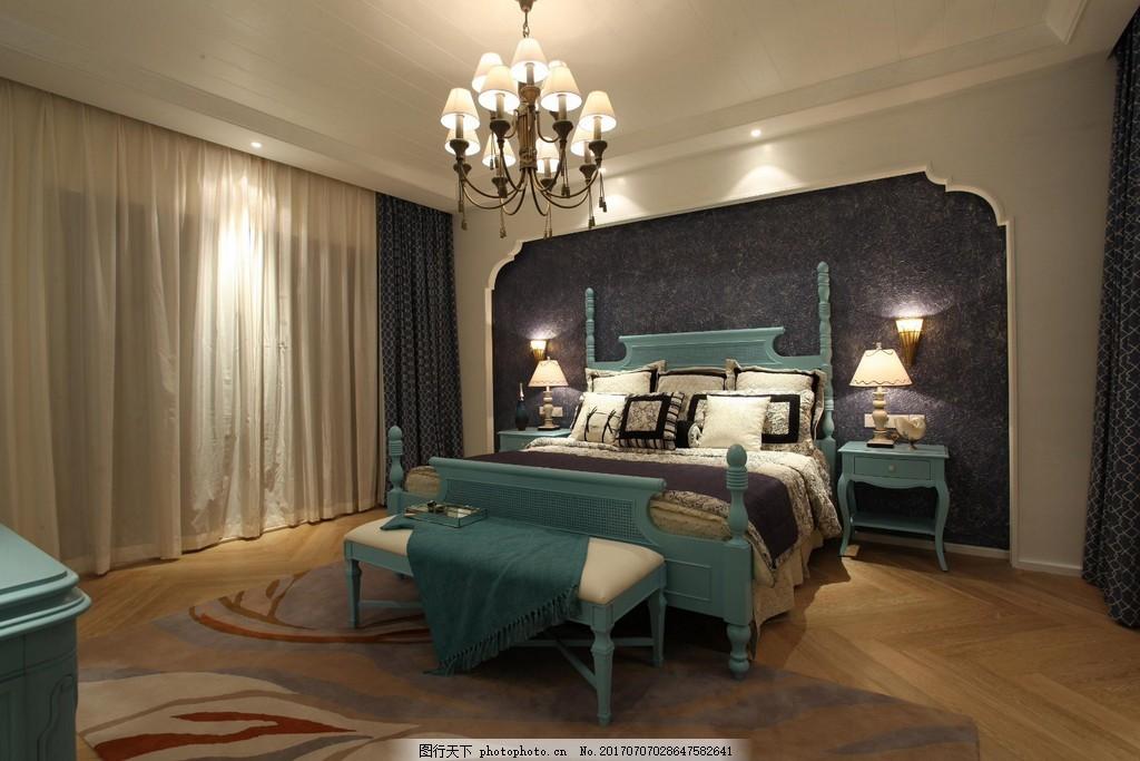 现代美式卧室装修效果图图片