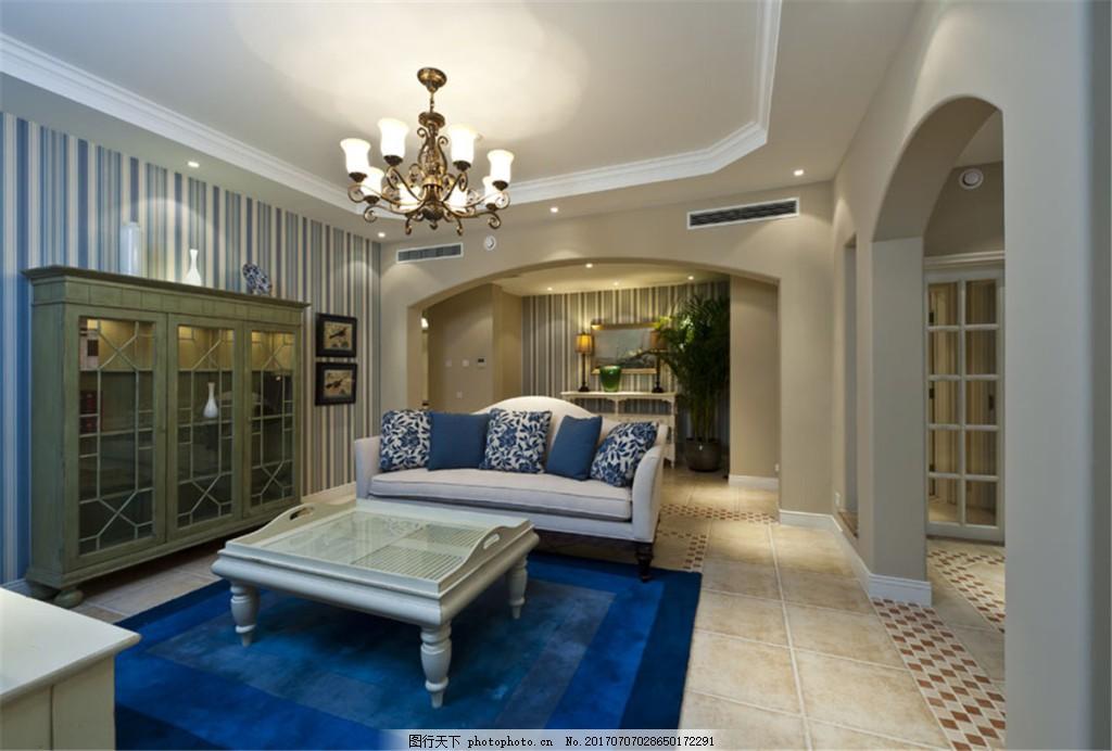 简约美式客厅装修效果图 室内装修效果图图片 jpg 时尚 环境设计 室内