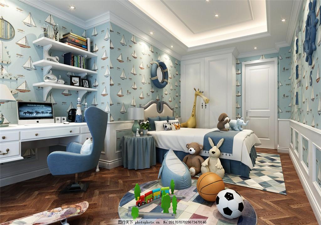 小男孩卧室装修效果图