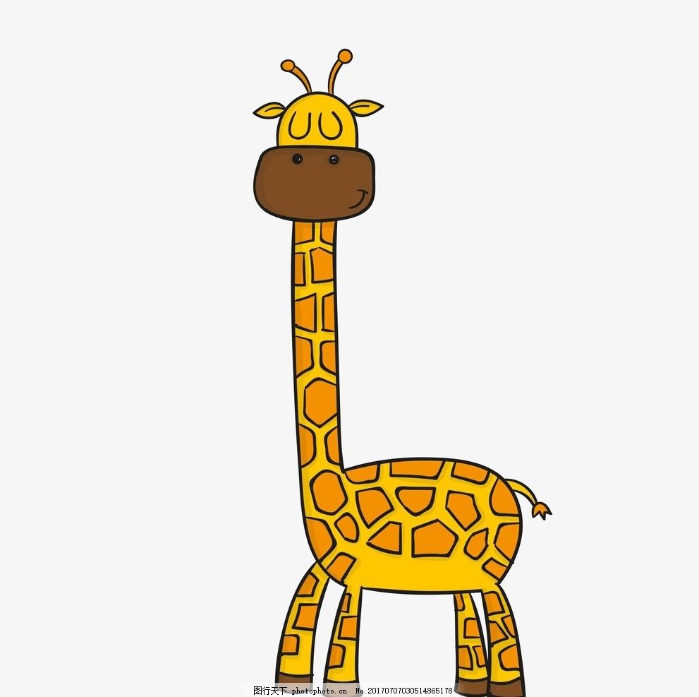卡通长劲鹿