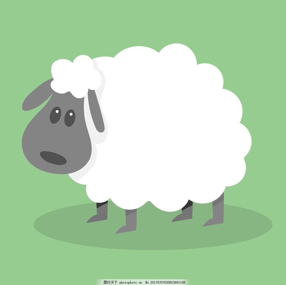 卡通绵羊 卡通动物 动漫卡通 可爱 贺卡 动物插画 插画 儿童绘本 儿童