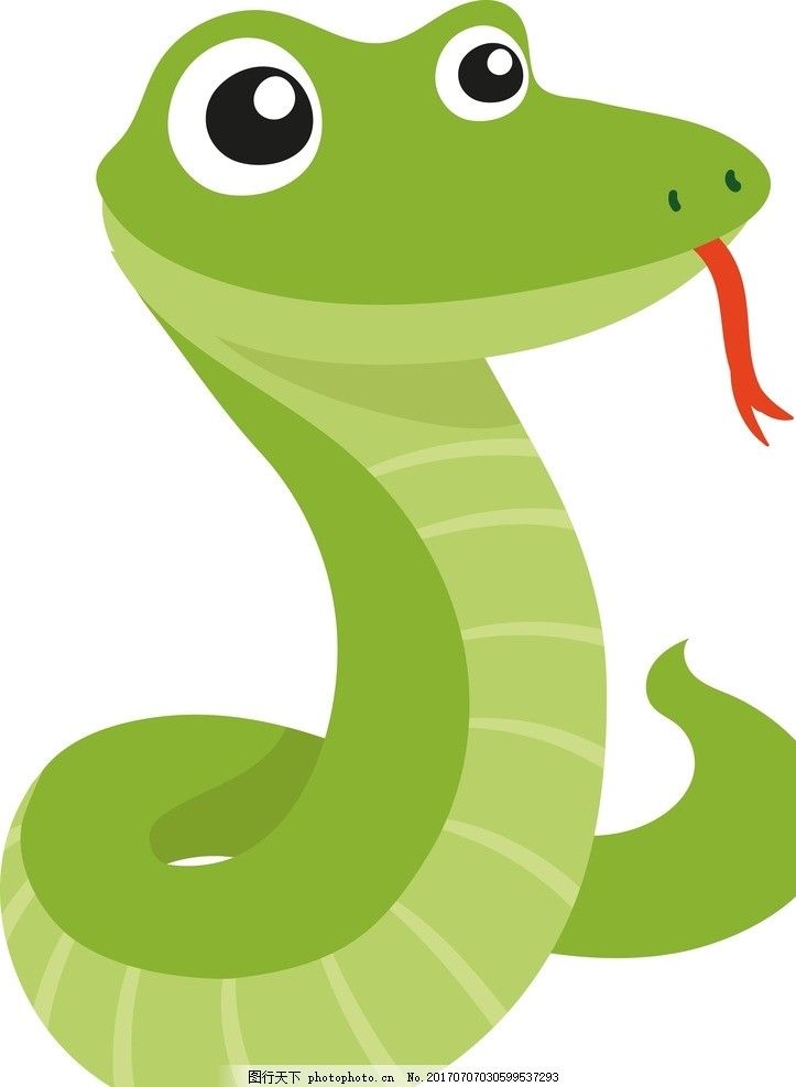 卡通蛇 卡通动物 动漫卡通 可爱 贺卡 动物插画 儿童绘本 儿童画画图片