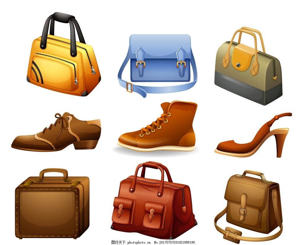 鞋子 男鞋 女鞋 高跟鞋 包包 箱包 化妆包 手提包 旅行包 设计 广告