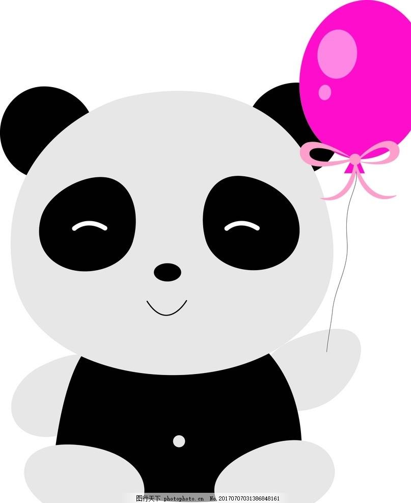 熊猫 卡通动物 动漫卡通 可爱 贺卡 动物插画 插画 儿童绘本 儿童画画