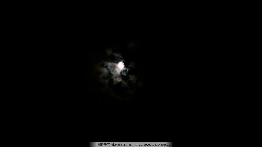 实拍夜晚天空月亮视频图片