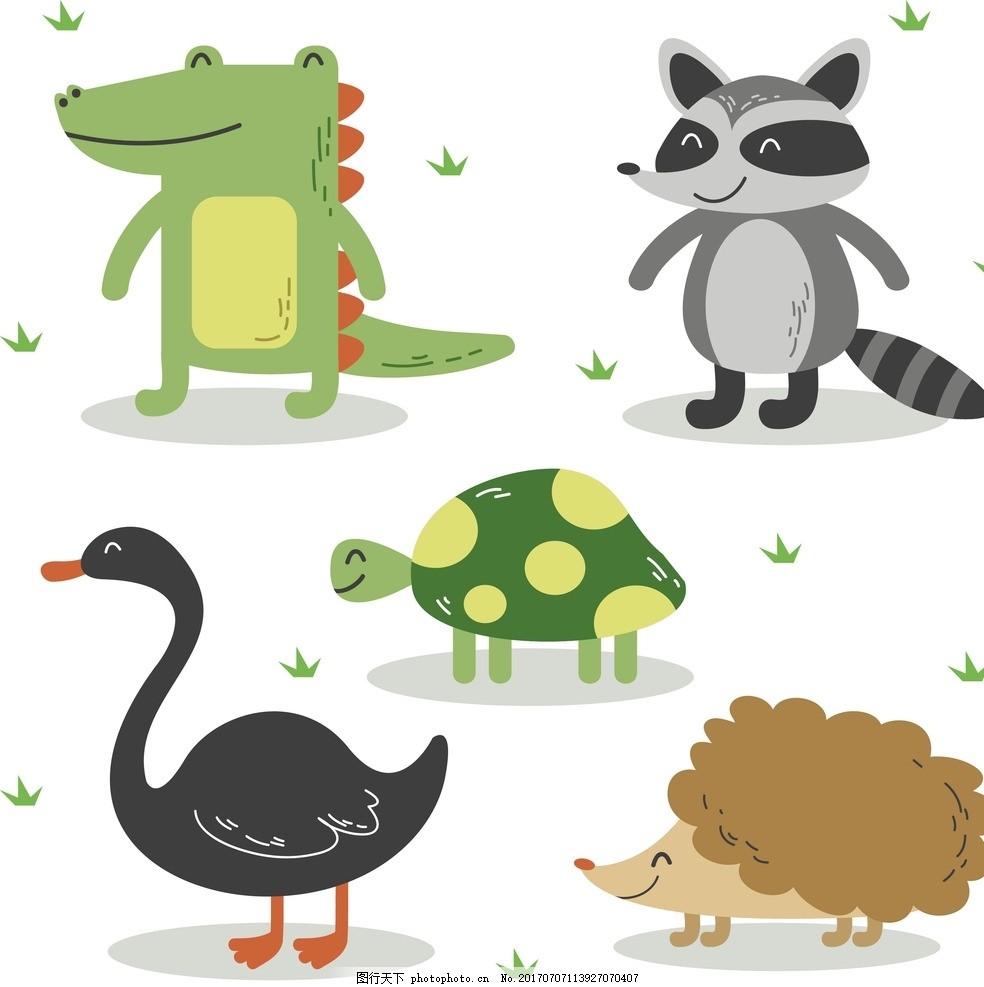 动漫卡通 可爱 贺卡 动物插画 插画 儿童绘本 儿童画画 卡通动物漫画