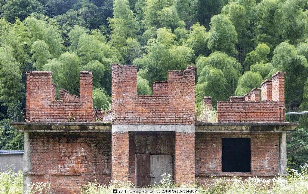 竹林砖房 竹林 红砖 楼房 建筑 自然 家园 风景 摄影 自然景观 摄影