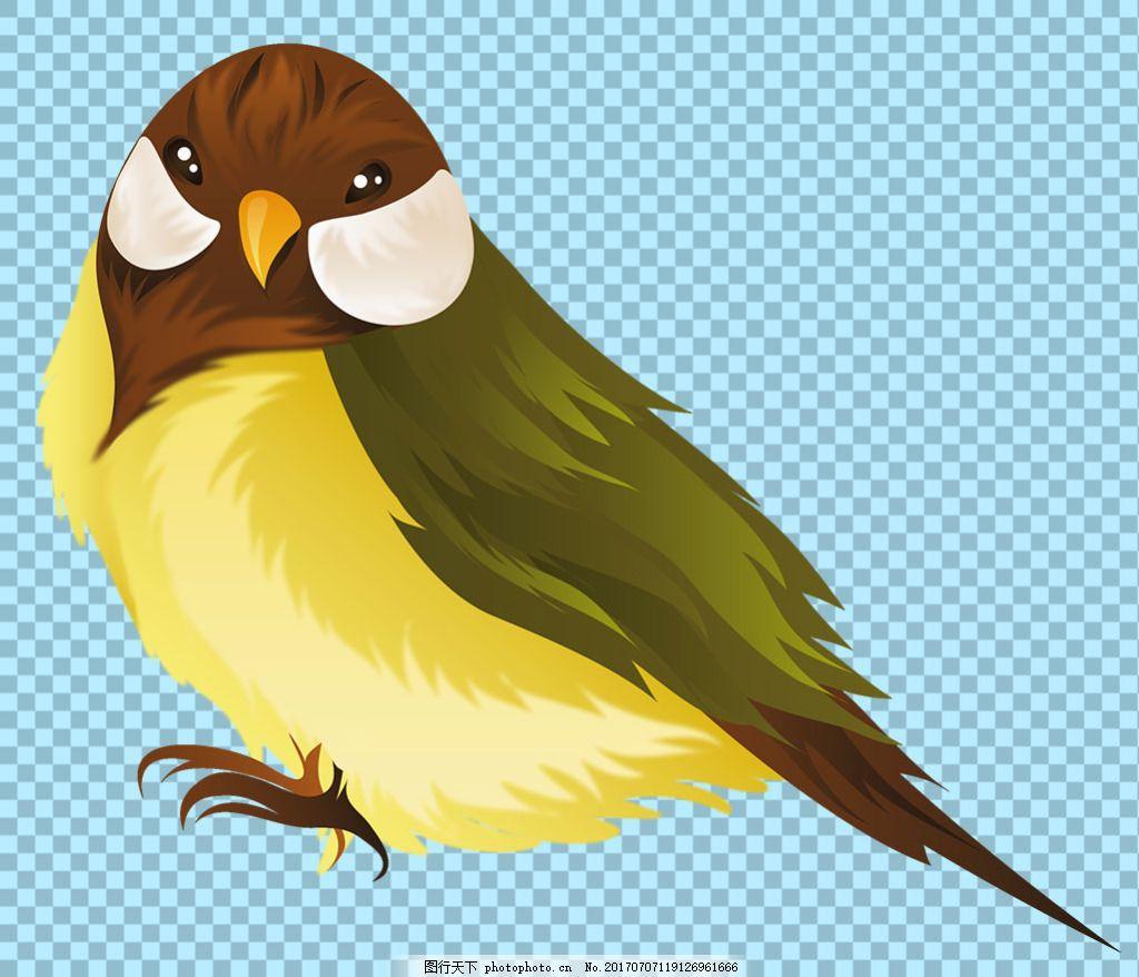 手绘卡通风格小鸟免抠png透明图层素材 鸟类动物 可爱动物图片 家禽