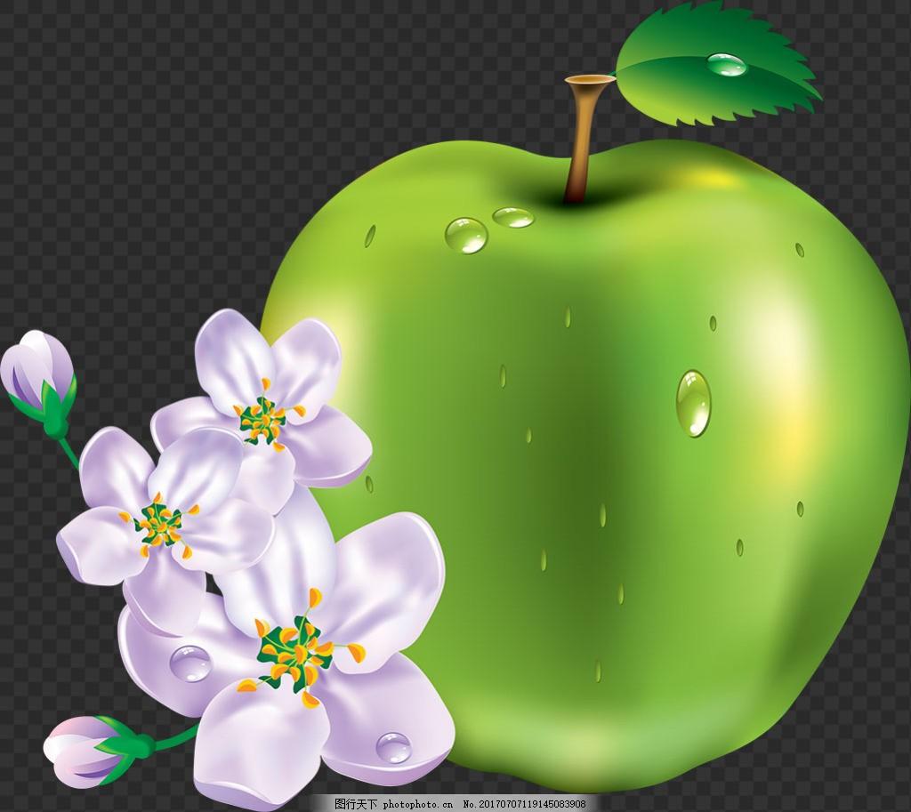 漂亮鲜花苹果图片免抠png透明图层素材