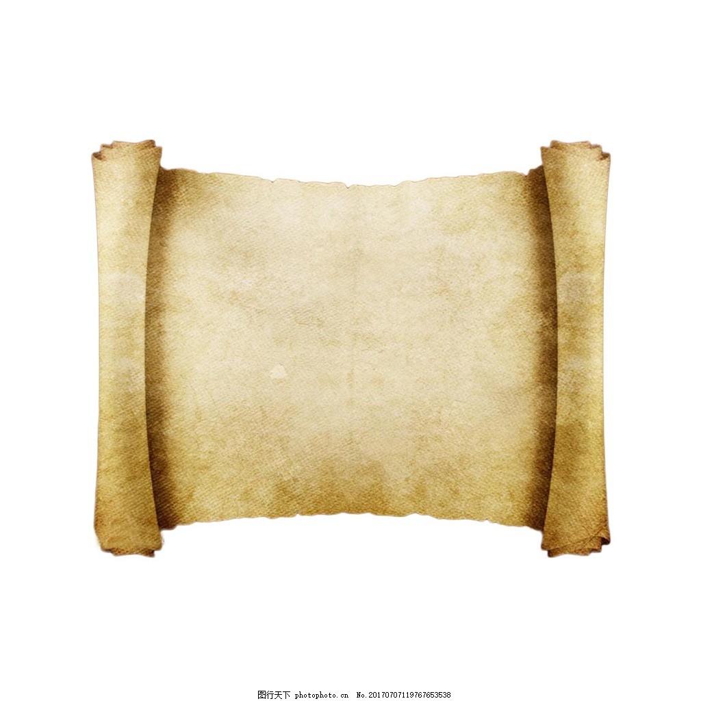 古代的书卷png透明素材