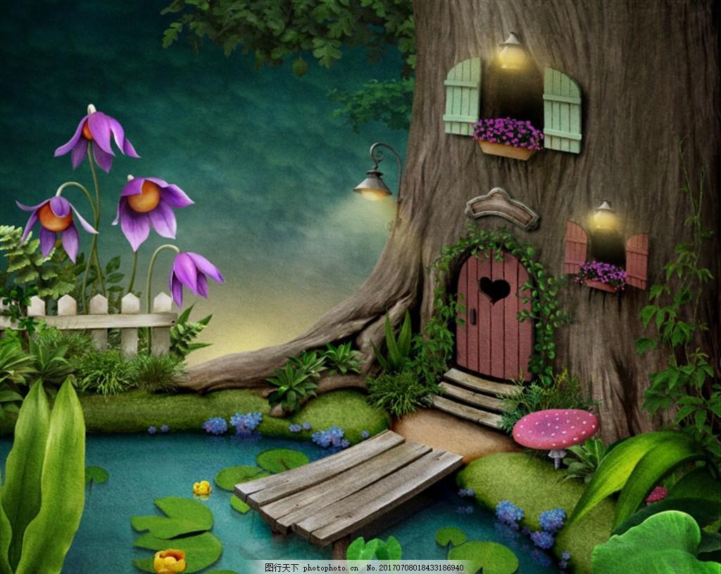 童话世界 森林 森林背景 梦幻森林 原始森林 奇幻森林 梦幻丛林 卡通